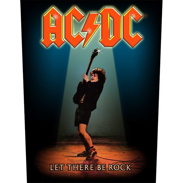 AC/DC- Let There Be Rock Sewn Edge Back Patch (bp61)