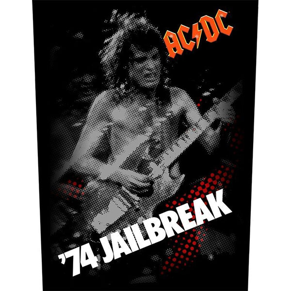 AC/DC- '74 Jailbreak Sewn Edge Back Patch (bp62)
