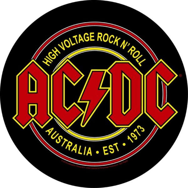 AC/DC- High Voltage Rock N Roll Sewn Edge Back Patch (bp50)