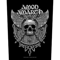 Amon Amarth- Skull & Axes Sewn Edge Back Patch (bp104)