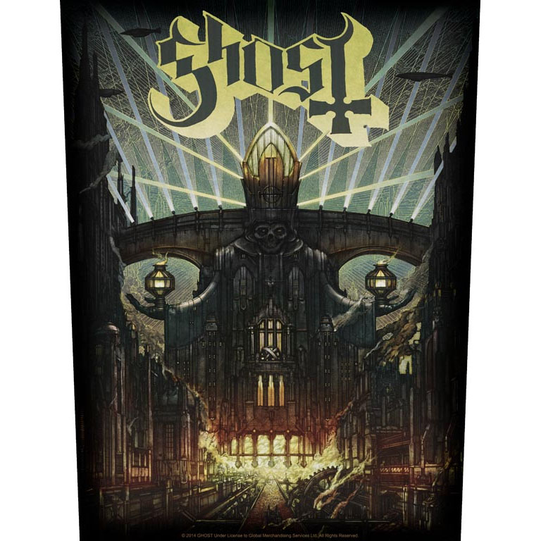 Ghost- Meliora sewn edge back patch (bp63)