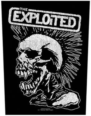 Exploited- Screaming Skull Sewn Edge Back Patch (bp39)