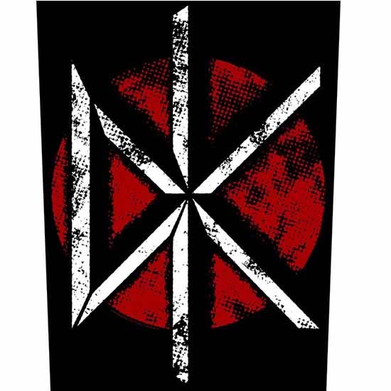 Dead Kennedys- DK on a sewn edge back patch (bp41)