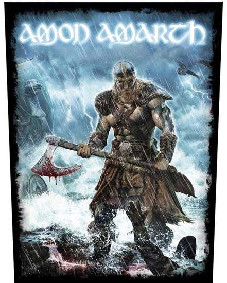 Amon Amarth- Jomsviking Sewn Edge Back Patch (bp42)