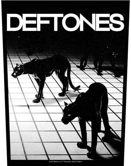Deftones- Panthers Sewn Edge Back Patch (bp44)