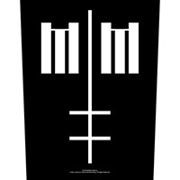 Marilyn Manson- Cross Symbol Sewn Edge Back Patch (bp141)