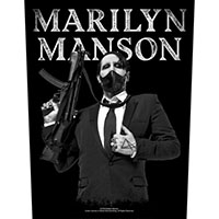 Marilyn Manson- Machine Gun Sewn Edge Back Patch (bp142)