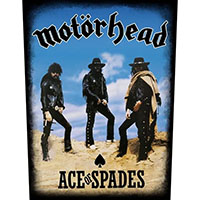 Motorhead- Ace Of Spades Band Pic Sewn Edge Back Patch (bp204)