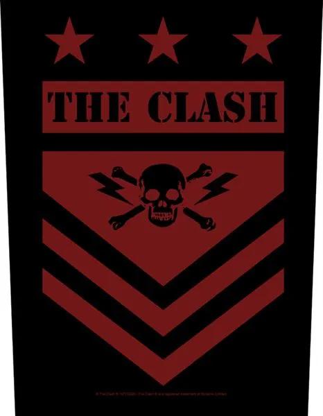 Clash- Military Skull Sewn Edge Back Patch (bp212)
