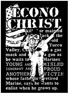 Econochrist- Soldier back patch (bp433)
