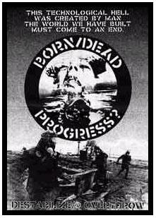 Born/Dead- Destabilize Overthrow back patch (bp484)
