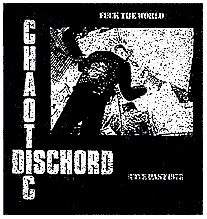 Chaotic Dischord- Fuck The World back patch (bp575)