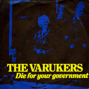 Varukers- Die For Your Government back patch (bp624)