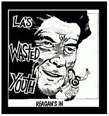 Wasted Youth- Reagans In (Black) back patch (bp627)