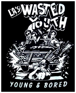 Wasted Youth- Young And Bored back patch (bp628)