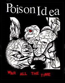 Poison Idea- War All The Time back patch (bp435)