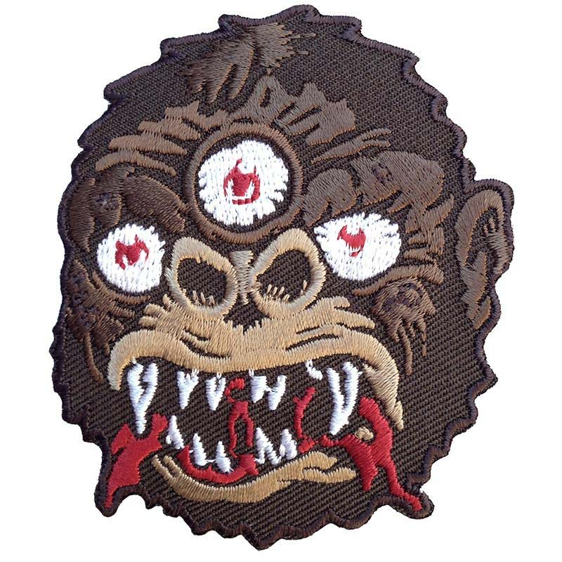 Brown 3 Eyed Kong Embroidered Patch by Scumbags & Superstars (ep273)