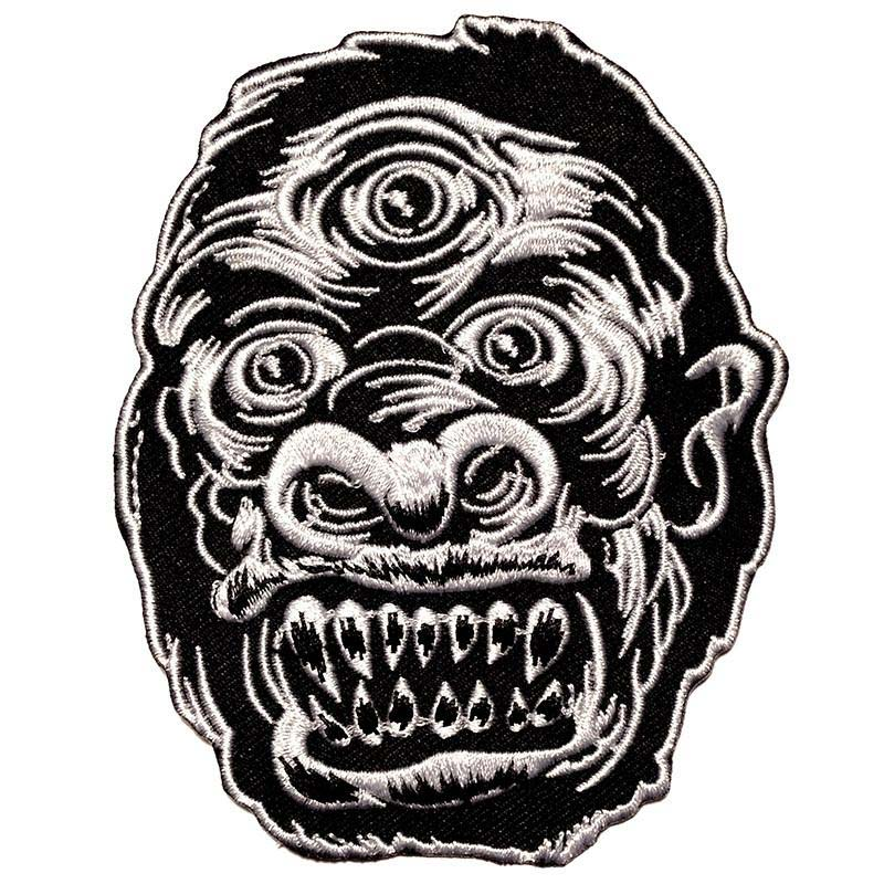 Black & White 3 Eyed Kong Embroidered Patch by Scumbags & Superstars (ep280)