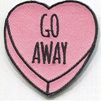 Candy Heart (Go Away) Embroidered Patch