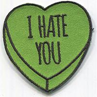 Candy Heart (I Hate You) Embroidered Patch