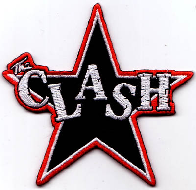 Clash- Star Logo die cut embroidered patch