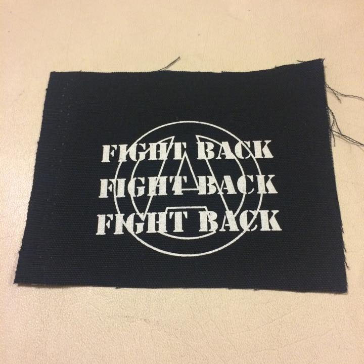 Fight Back cloth patch (cp201)