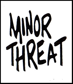 Minor Threat- Logo cloth patch  cp862 Minor Threat Logo