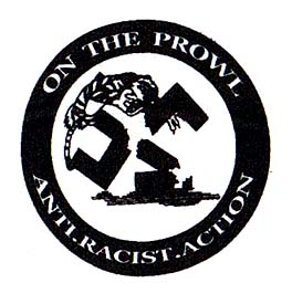 Anti Racist Action- On The Prowl cloth patch (cp889)