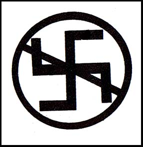 Crossed Out Swastika cloth patch (cp890)