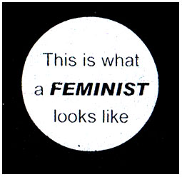 This Is What A Feminist Looks Like cloth patch (cp894)