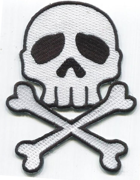 Captain Harlock Skull & Crossbones embroidered patch