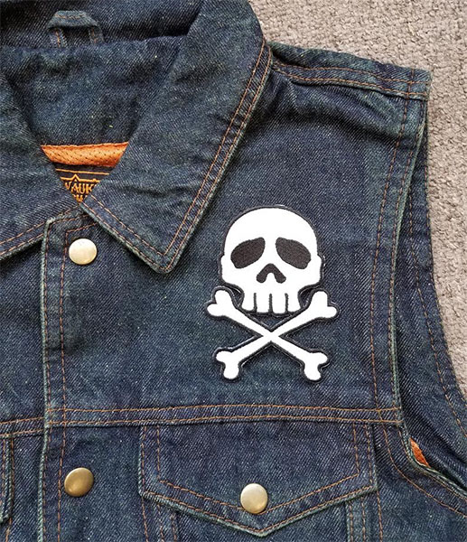 Captain Harlock Skull & Crossbones embroidered patch