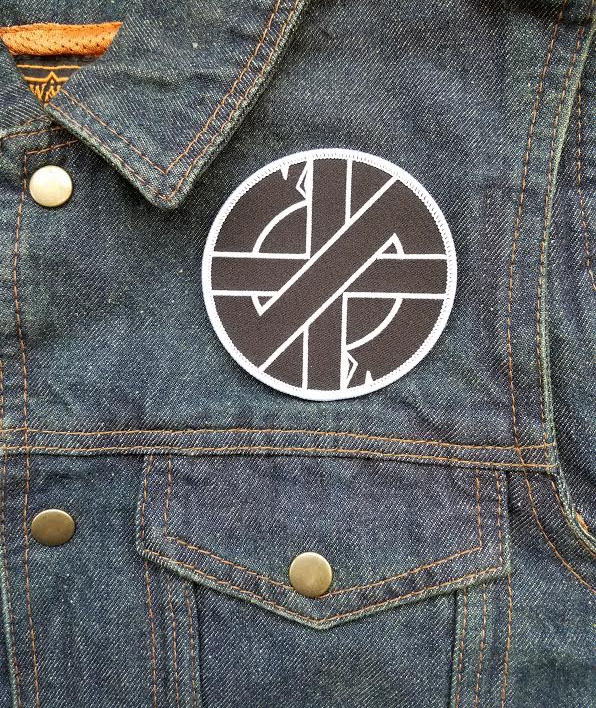 Crass- Symbol embroidered patch