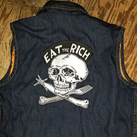 Eat The Rich Embroidered Back Patch