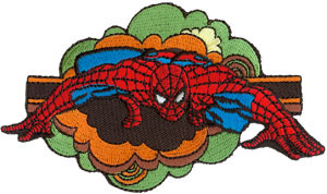 Marvel Comics- Spiderman Retro Cloud embroidered patch (ep802)