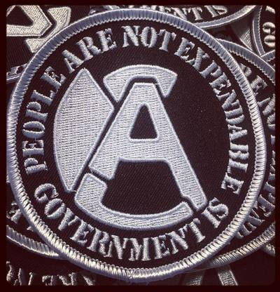 Aus Rotten- People Are Not Expendable, Government Is embroidered patch (ep706)