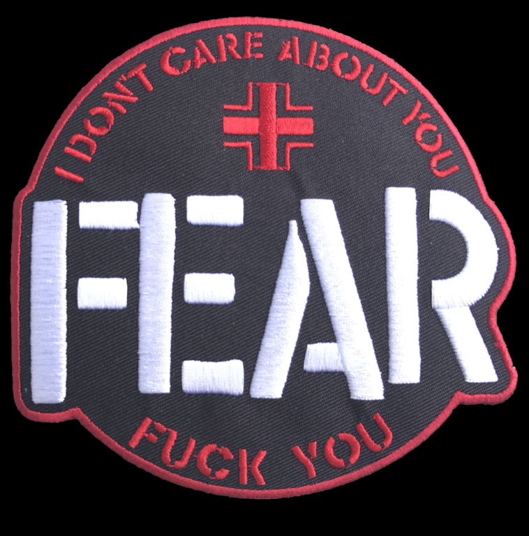 Fear- I Don't Care About You large embroidered patch (ep494)