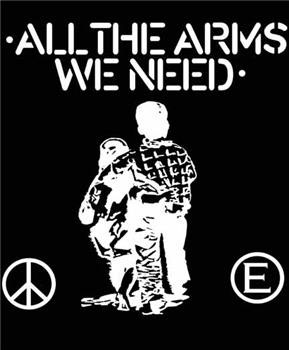 Flux Of Pink Indians- All The Arms We Need on a black shirt