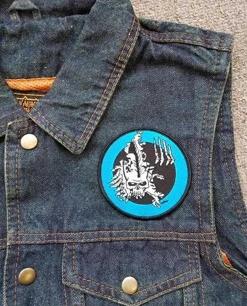 Germs- Skull Embroidered Patch