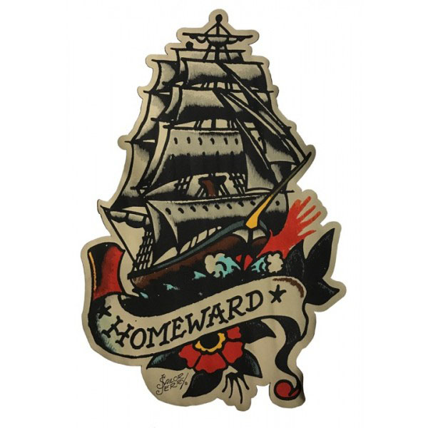 Homeward Bound Fabric Back Patch from Sailor Jerry