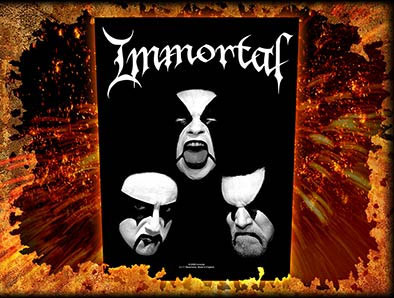 Immortal- Faces Sewn Edge Back Patch (bp19)