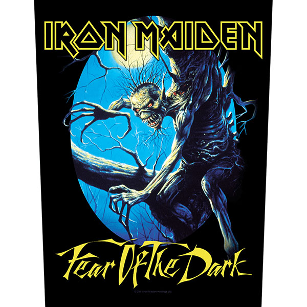 Iron Maiden- Fear Of The Dark Sewn Edge Back Patch (bp70)