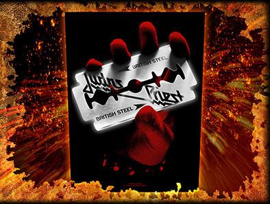 Judas Priest- British Steel Sewn Edge Back Patch (bp14)