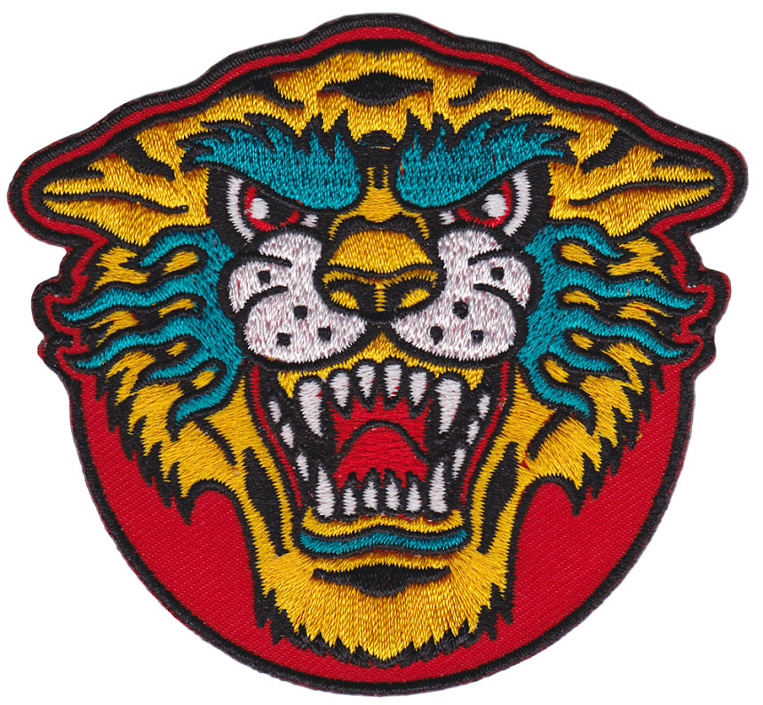 Kustom Kreeps Tiger Embroidered Patch  - from Sourpuss (ep709)