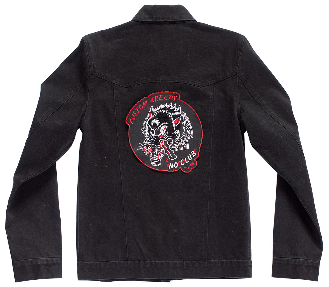 Kustom Kreeps Oversized Embroidered Back Patch  - from Sourpuss - No Club Wolf - SALE