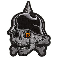 13 Skull Embroidered Patch by Sourpuss (ep964)