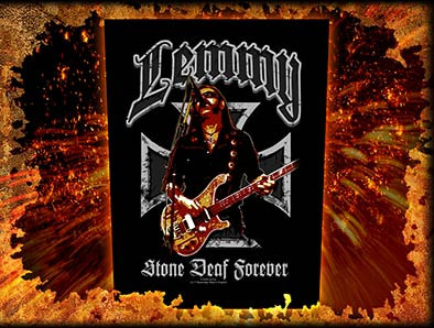 Lemmy (Motorhead)- Stone Deaf Forever Sewn Edge Back Patch (bp20)
