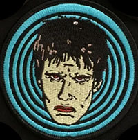 Lux Interior Inspired Embroidered Patch by Mood Poison - in BLUE (EP74)