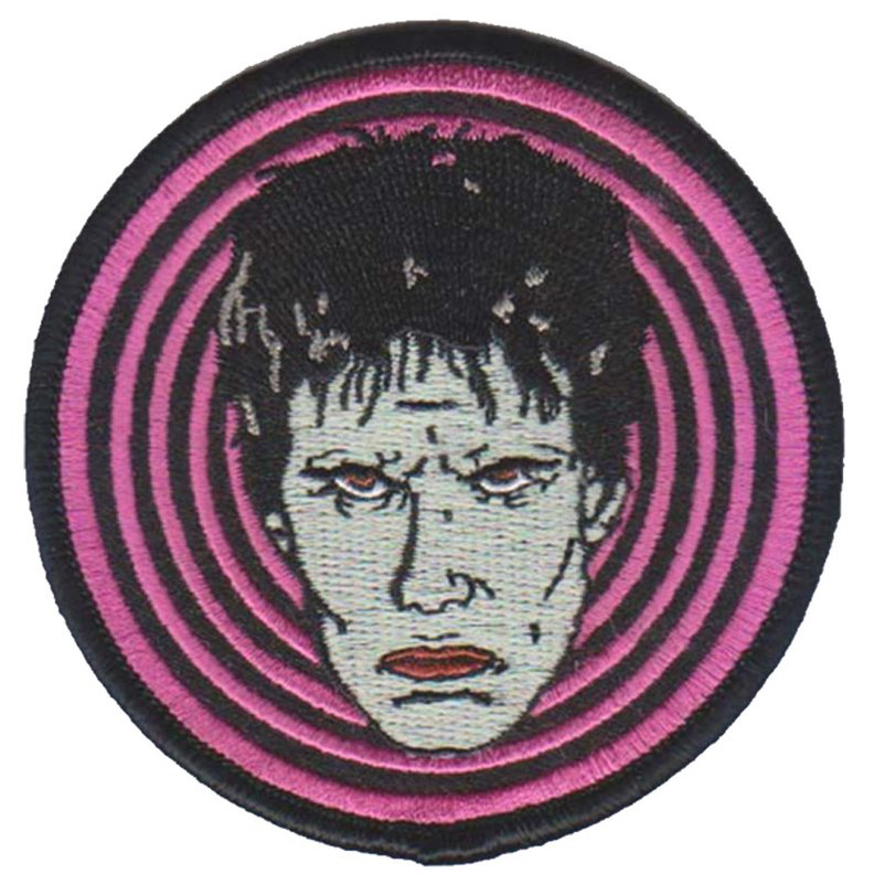 Lux Interior Inspired Embroidered Patch by Mood Poison - in PINK (ep742)