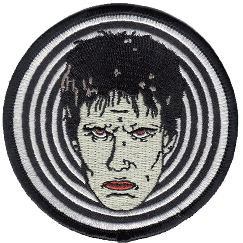Lux Interior Inspired Embroidered Patch by Mood Poison - in WHITE (ep744)